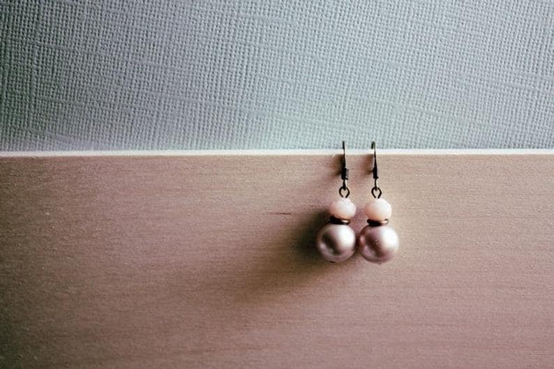 Sienna. A petite french vibe feminine tinker sterling silver antiqued finish earring