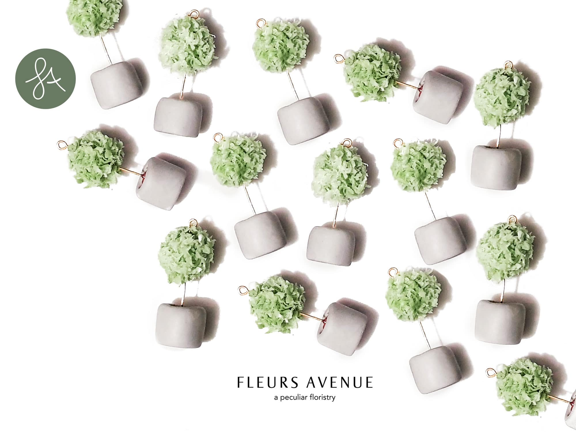 Bay Tree. Round Tree Plant Necklace by Fleurs Avenue