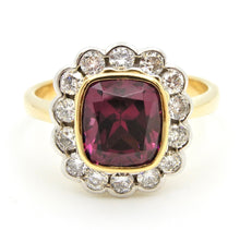 Load image into Gallery viewer, 2.5 Carat Cushion Cut Purple Garnet Diamond Handmade Cocktail Ring