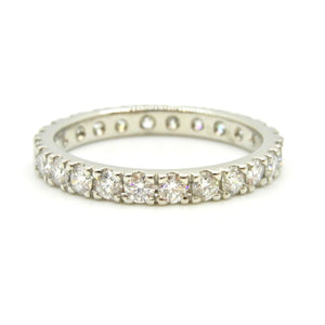 1.44 Carat Diamond and Platinum Full Eternity Band Ring