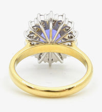 Load image into Gallery viewer, 2.93 Carat Oval Cut Tanzanite Diamond Handmade 18 Carat Gold Cocktail Ring