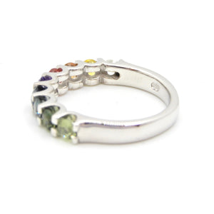 Half band Rainbow Ring - Pastel Gradient