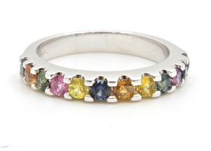 Half band Slimline Rainbow Ring