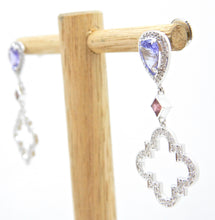 Load image into Gallery viewer, Tanzanite Diamond and Pink Sapphire Du Maroc Earrings