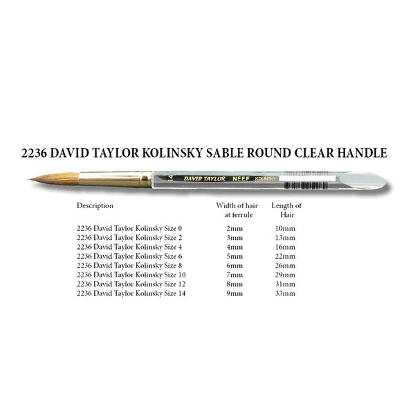 David Taylor Kolinsky Sable Brush - Series 2236