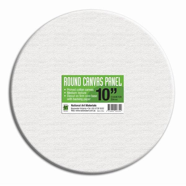 Round Canvas Panel White
