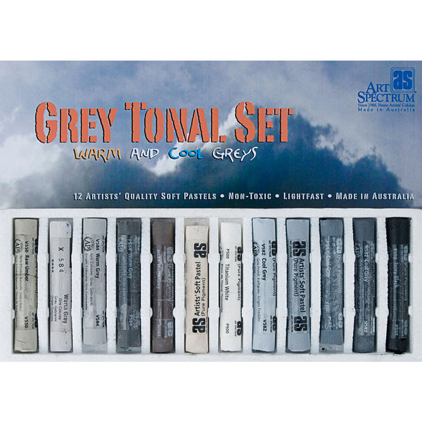 Art Spectrum Artists' Soft Pastels Grey Tonal Set