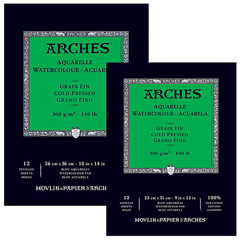 Arches Watercolour paper Pads Cold Pressed 300gsm