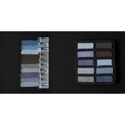 Art Spectrum Extra Soft Square Pastels Box of Ten - Warm Greys