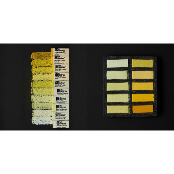 Art Spectrum Extra Soft Square Pastels Box of Ten - Yellows