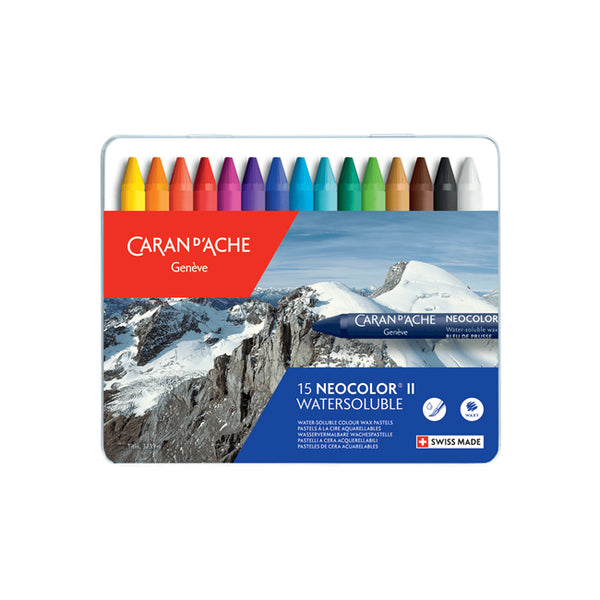 15 Neocolour II Water-Soluble Pastels