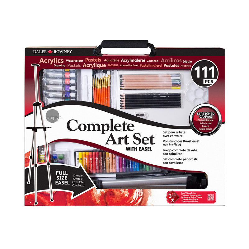 Complete Art Set With Easel from Daler Rowney