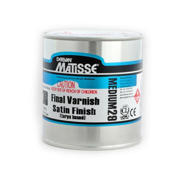 Derivan Matisse MM29 Final Varnish Satin Finish Medium 250 ml