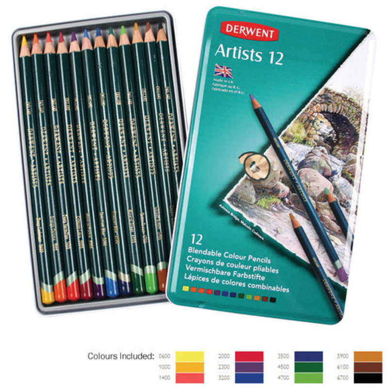 Derwent Artist Pencils Tin of 12