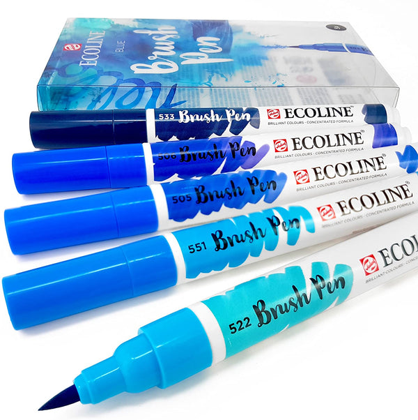 Ecoline Brush Pen Set 5pc – Blue