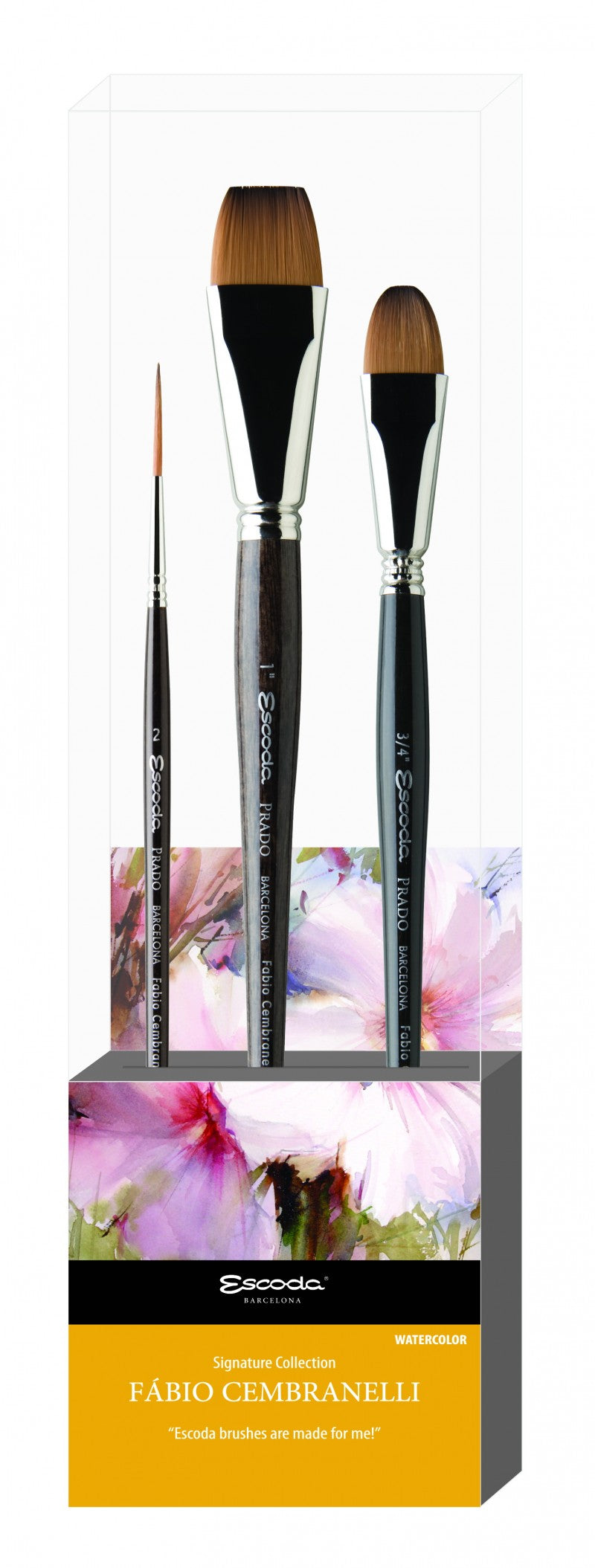 Fabio Cembranelli Signature collection Set No. 2 - Escoda Synthetic Watercolour Brushes