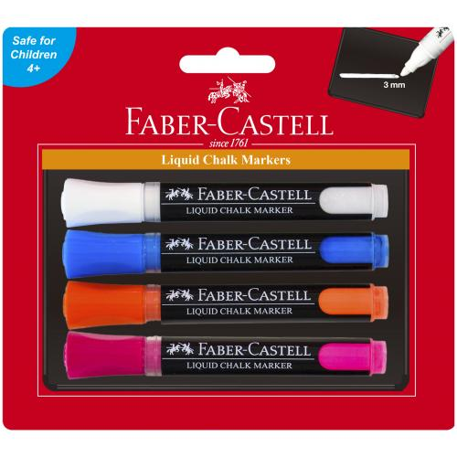 Faber-Castell Liquid Chalk Markers Set of 4