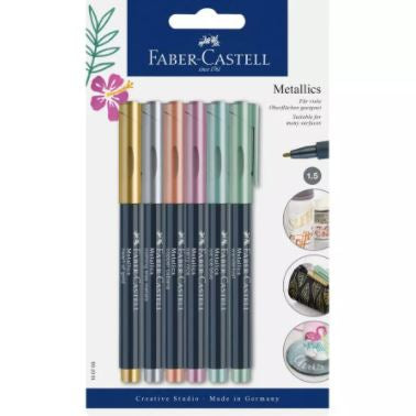 Faber-Castell Metallics Marker Set of 6