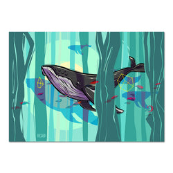 Flying Through the Forest - A2 size (59cm x 42cm)