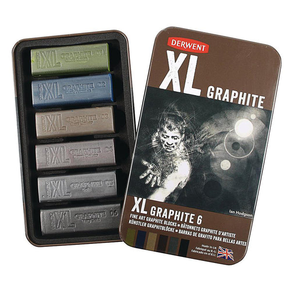 Derwent XL Graphite Blocks Set of 6