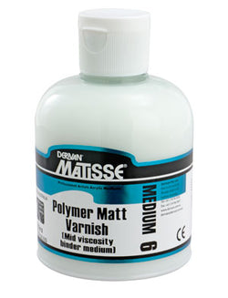 Derivan Matisse MM6 Polymer Matt Varnish Medium 250ml