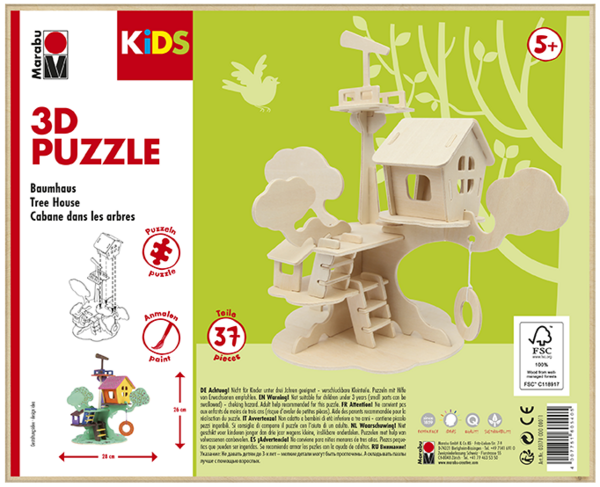 3D Puzzle Age 5+ Tree House
