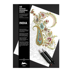 16 Marker Colouring Sheets, India