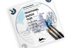 Card Colouring Book Traditional Dutch Tiles