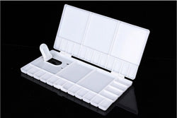 Folding Plastic Palette with Hinged Thumb Hole 28x14cm