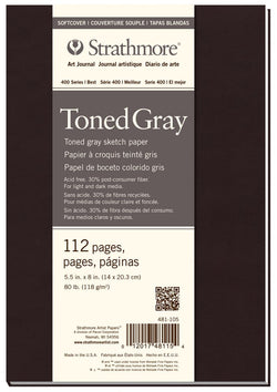 "Strathmore Art Journal 400 Series Toned Gray Softcover (5.5"" x 8"")"