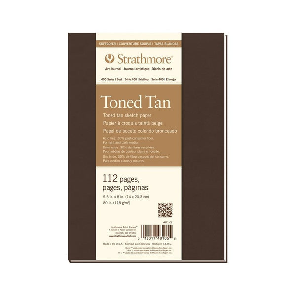 "Strathmore Art Journal 400 Series Toned Tan Hardcover (5.5"" x 8.5"")"