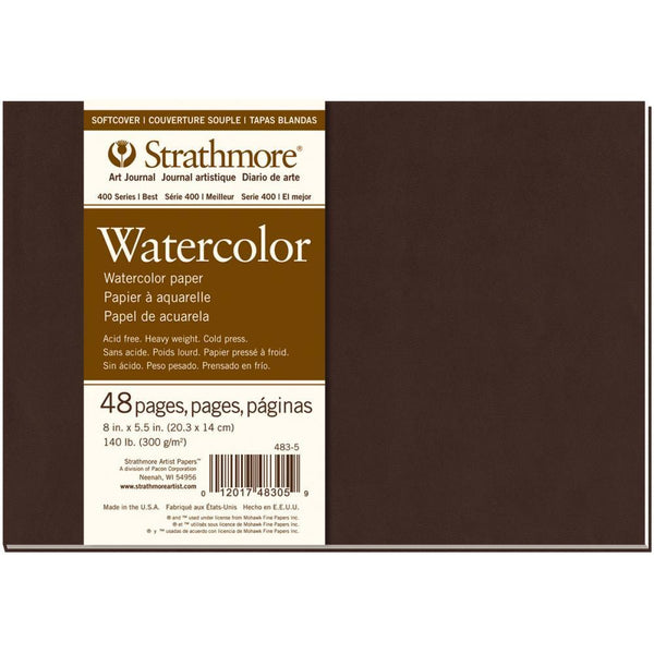 "Strathmore Watercolor Softcover Art Journal 48 Pages landscape (5.5"" x 8"")"