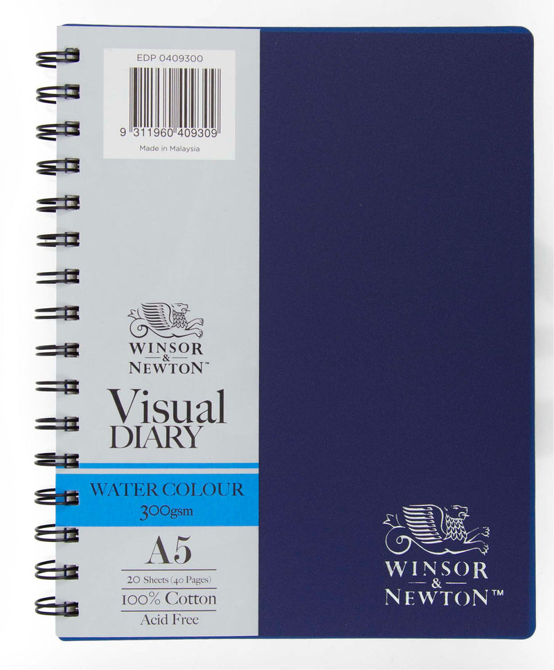 Winsor and Newton Watercolour Visual Diary, 300gsm A4