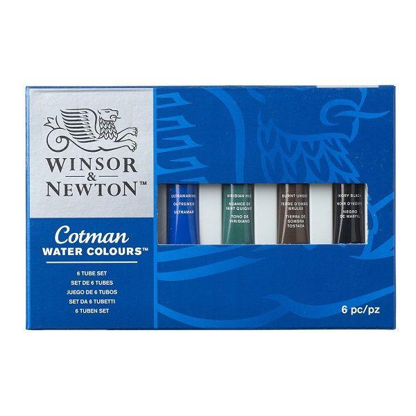Winsor & Newton Cotman Watercolour 6 x 8ml Tube Set
