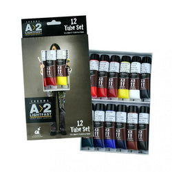 Chroma A2 Lightfast Heavy Body Acrylic Paint Tube Set 12 x 20ml