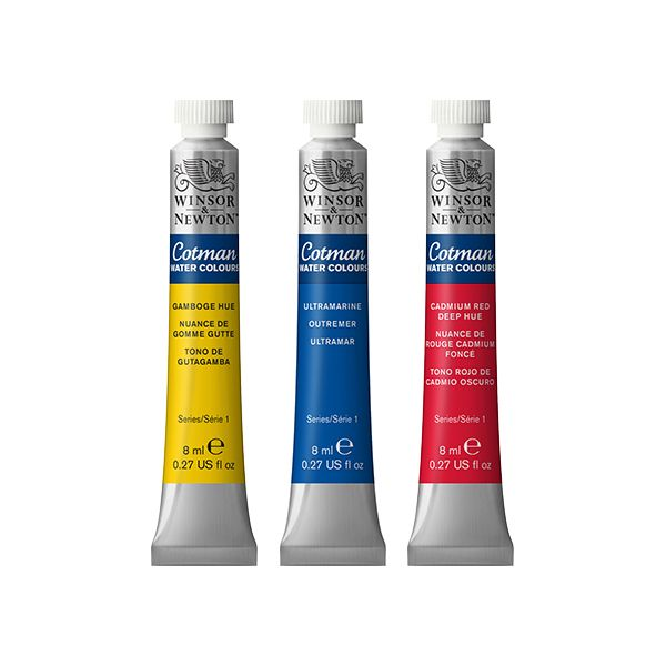 Cotman Water Colours 8ml tubes