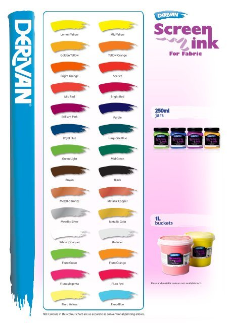 Derivan Screen Ink - 250ml