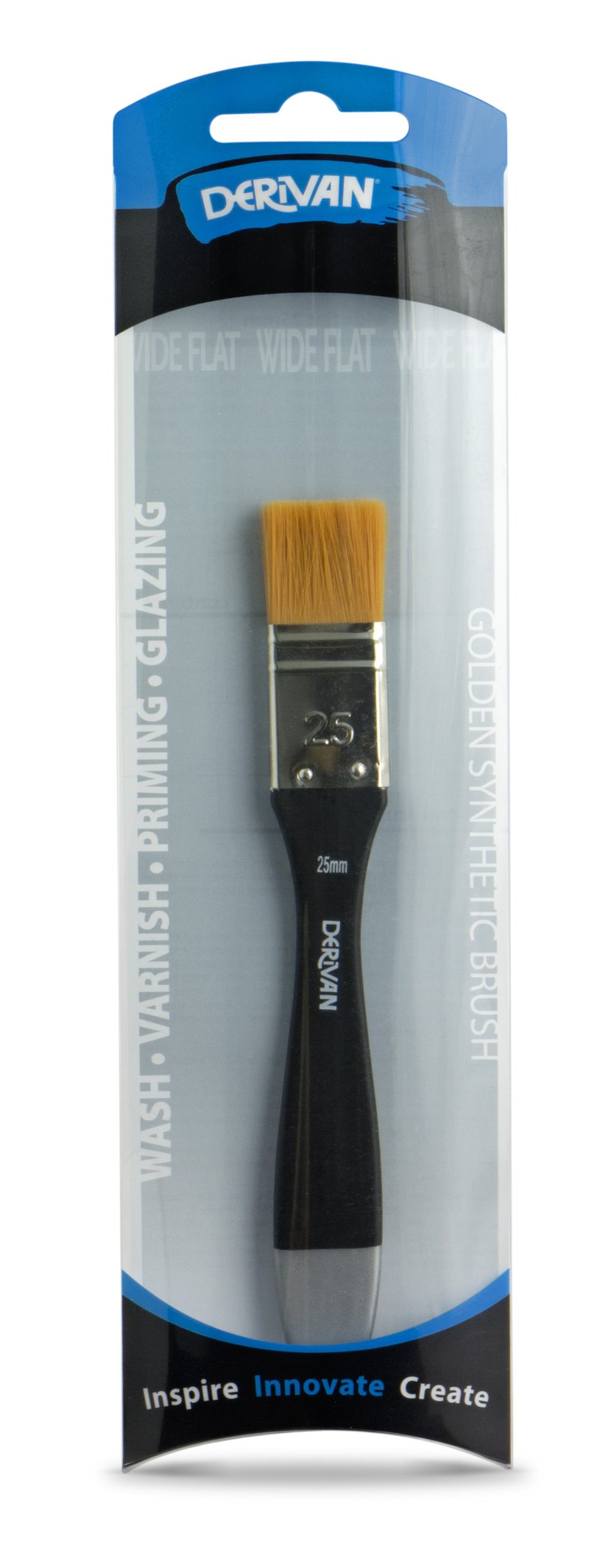 Golden Synthetic Professional Brush Wide Flat