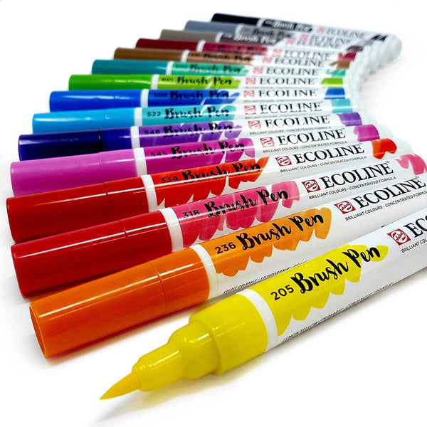 Ecoline Liquid Watercolour Brush Pen 15 pack