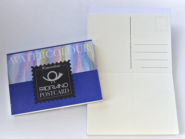 Fabriano Watercolour Postcards 148 x 105mm 300gsm 20 Sheets - Medium (Cold Pressed)