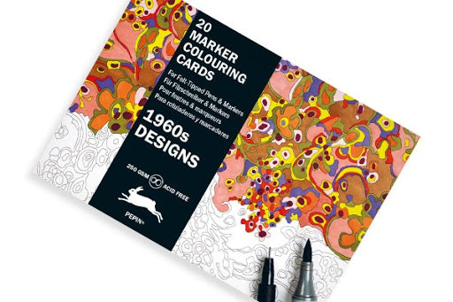 Postcard Colouring Book, 1960s Designs