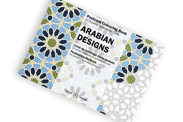 Postcard Colouring Book, Arabian Designs