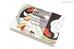 Postcard Colouring Book, Art Nouveau