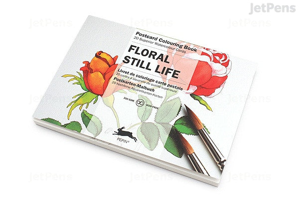 Postcard Colouring Book, Floral Still life