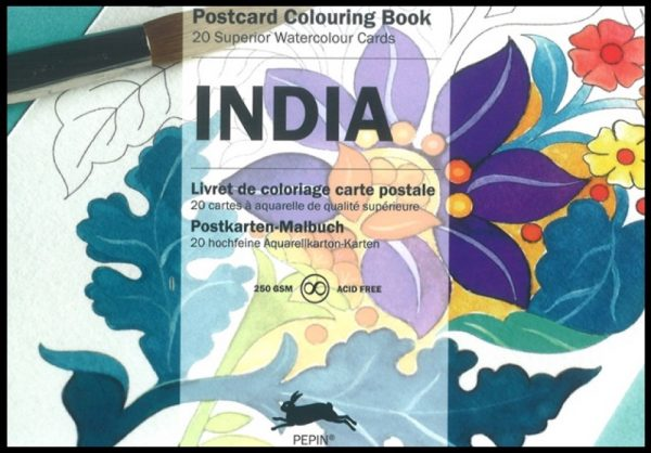 Postcard Colouring Book, India