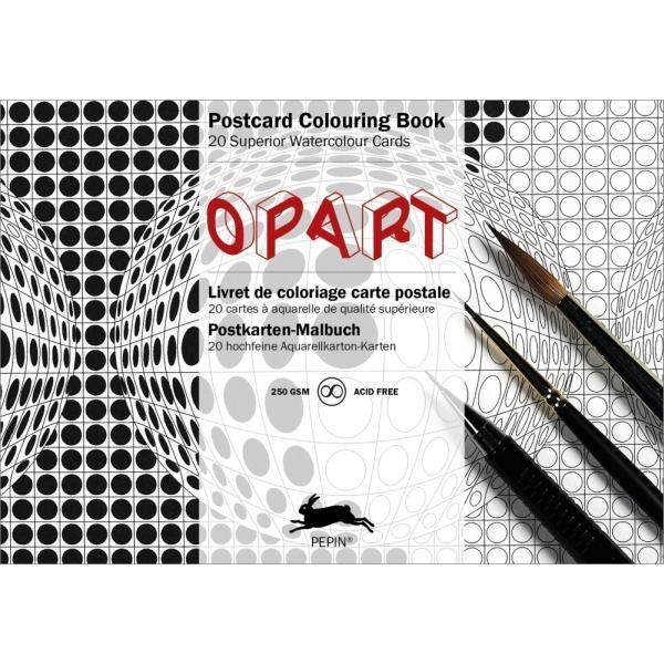 Postcard Colouring Book, Opart