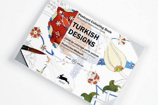 Postcard Colouring Book, Turkish Designs