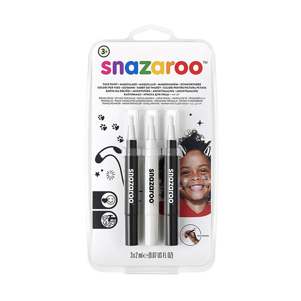 Snazaroo Face Paint Brush Pen - Pack of 3