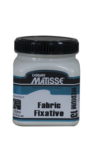 Derivan Matisse MM13 Fabric Fixative Medium - 250ml