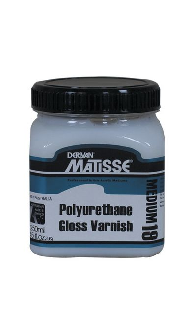 Derivan Matisse MM19 Poly-U-Gloss Varnish (Polyurethane) Medium - 250ml